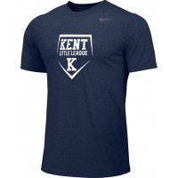 Kent Little League 10: Adult-Size - Nike Team Legend Short-Sleeve Crew T-Shirt - Navy Blue